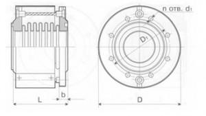 Компенсатор сдвигово-поворотный К011-10-Т16
