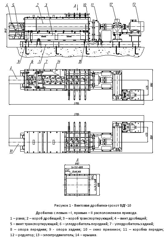 Схема дробилка ВДГ-10