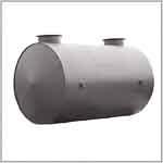 Емкости горизонтальные с плоскими отбортованными днищами для хранения ГСМ надземной и подземной установки с подогревателем и без подогревателя