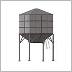 Металлический бункер для зерна