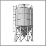 Силос для хранения цемента, зерна, извести