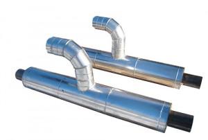 Тройник-ППУ-оц, Тройниковое ответвление ППУ ОЦ параллельное с металлической заглушкой изоляции