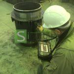 УЗК контроль сварных швов  сальниковых компенсаторов
