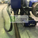 Автоматический сварочный автомат для сварки под слоем флюса резервуаров, емкостей, циклонов и другого объемного оборудования